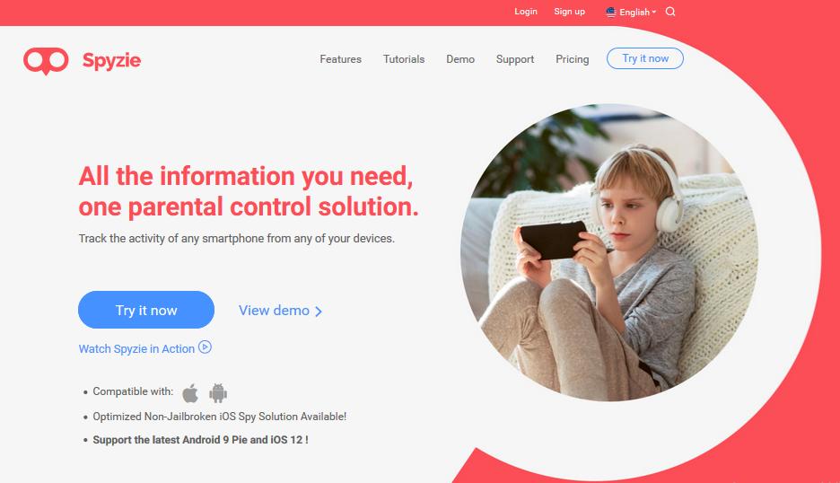 Spyzie website for nanny